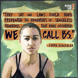 """They say no laws could have prevented the hundreds of senseless tragedies that have occurred. WE CALL BS."" Emma Gonzalez"