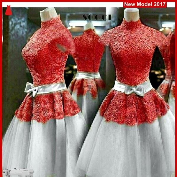 MSF0090 Model Dress Red Murah Prada Modis BMG