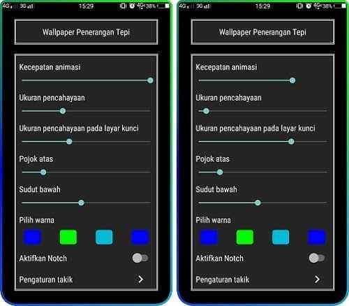 Cara Membuat Tampilan Border Light (Kedap Kedip) di Android