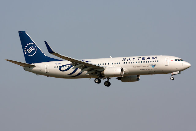 Garuda Indonesia Sky Team Alliance on Boeing 737-800