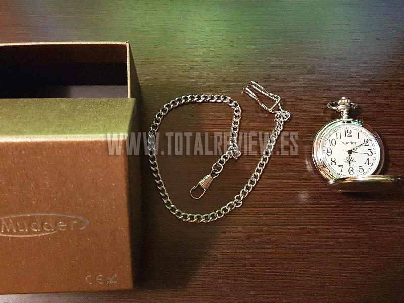 reloj bolsillo antiguo: incluye cadena y caja de regalo