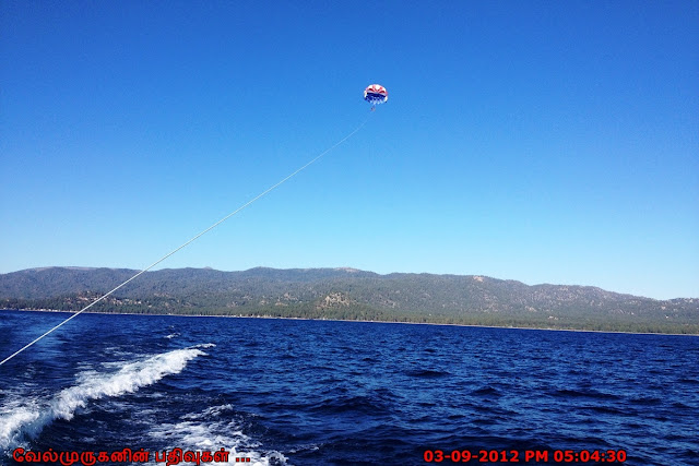 Parasailing on South Lake Tahoe