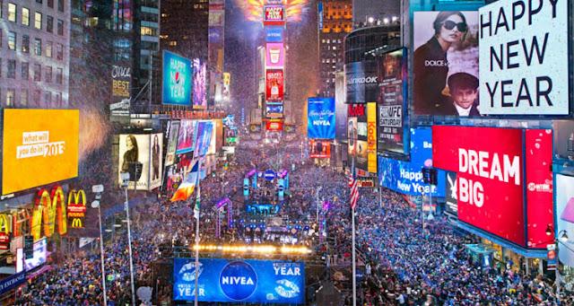 Recibir el año nuevo en el Times Square