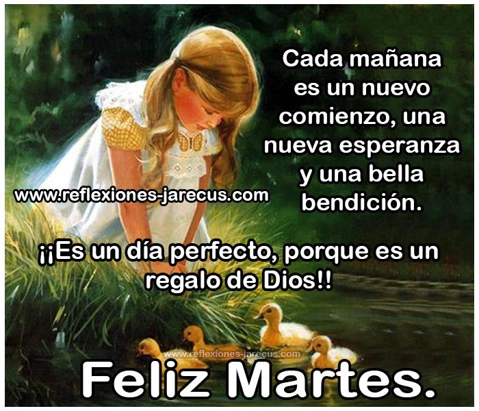 Feliz martes✅Cada mañana es un nuevo comienzo, una nueva esperanza y una bella bendición. ¡¡Es un día perfecto , porque es un regalo de Dios!!