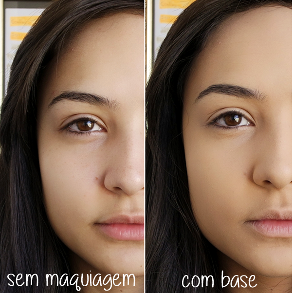 Resenha: Base Super Stay Maybelline (Nude Light) antes e depois