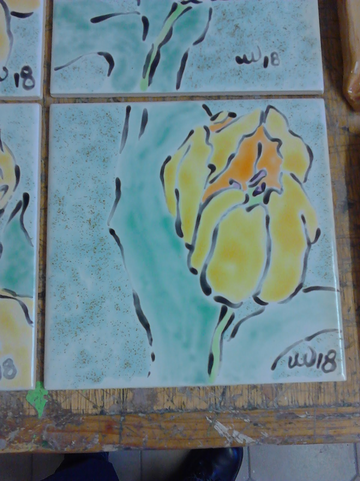 Culture, Craft & Cooking!: Hand-painted ceramic tiles