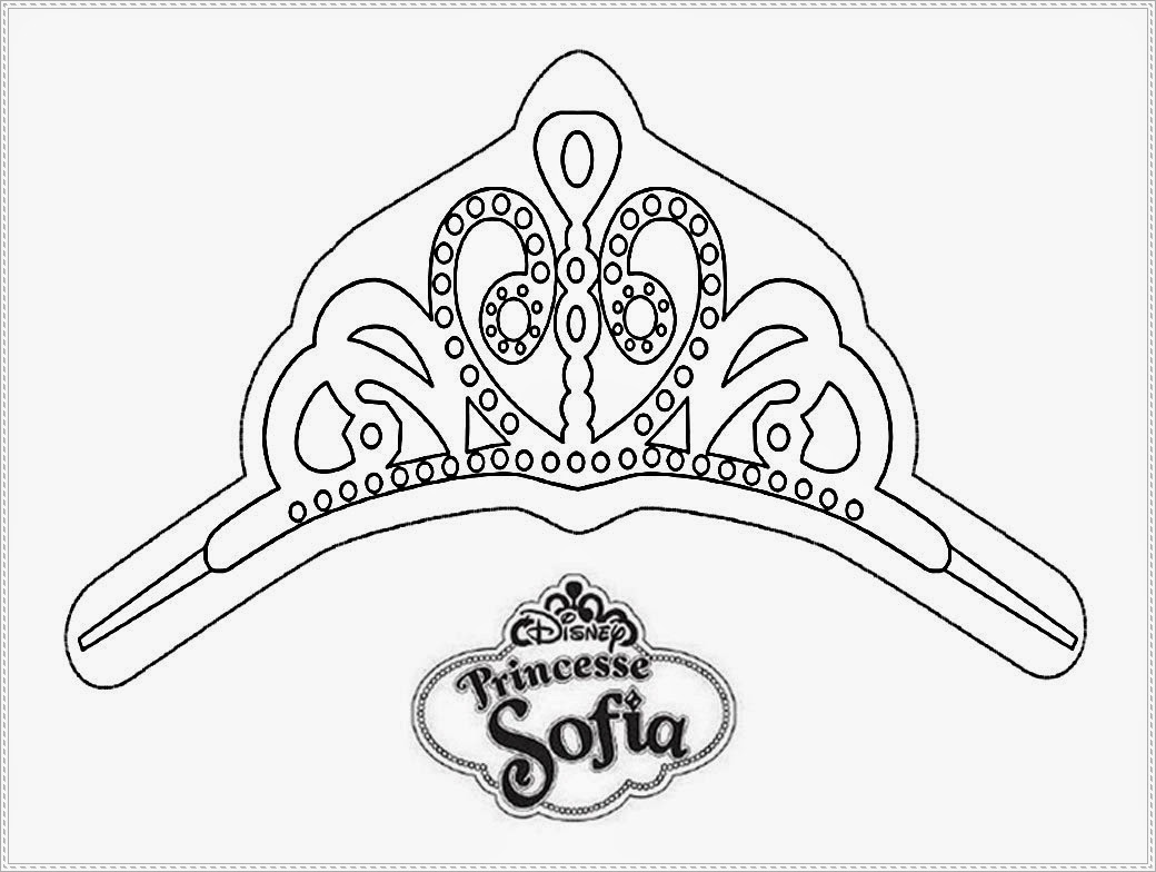 Prince james from sophia coloring pages coloring pages for Sofia the first crown template