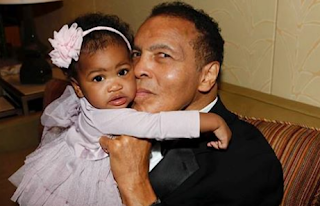 A Picture Of Muhammad Ali and His Granddaughter