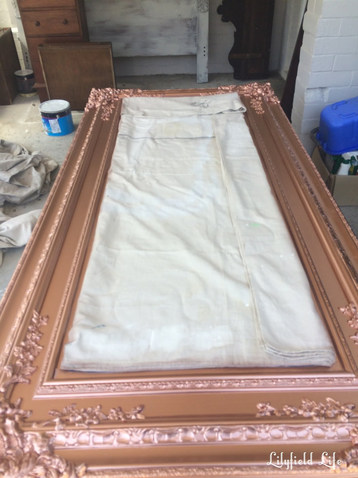 Lilyfield Life Antique Rose Gold Mirror From Aged Cream