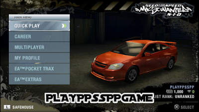 Need For Speed Most Wanted ISO PPSSPP Download
