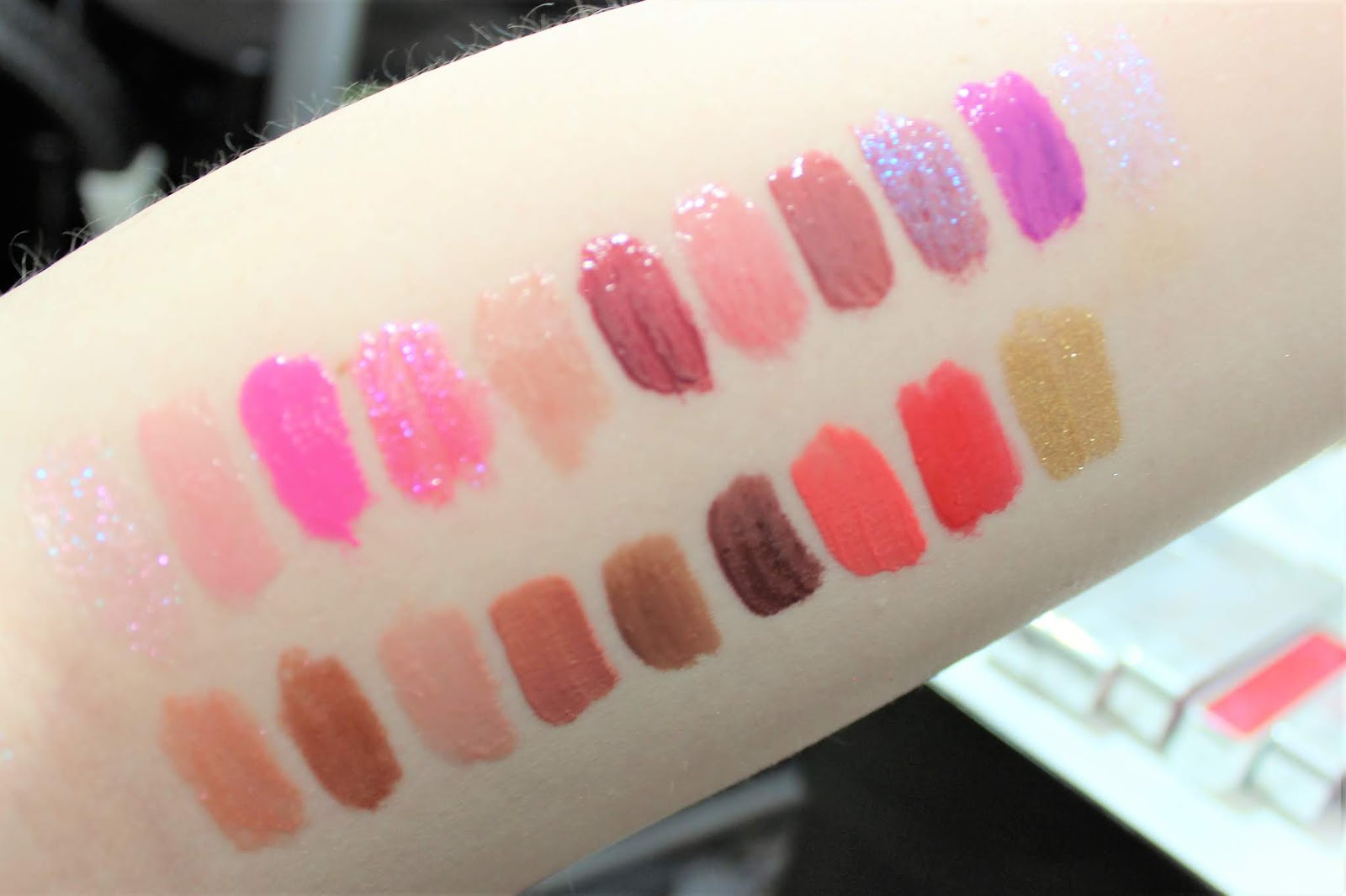 Urban Decay Hi-Fi Shine Lip Gloss swatches