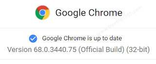 Google Chrome updated to version 68