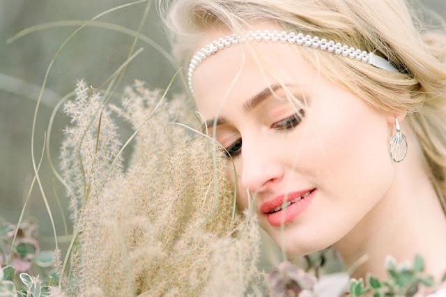 Opaska ślubna na czoło, z perłami, PiLLow Design