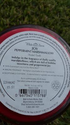 Bath and Body Works 'Peppermint Marshmallow' 3 Wick Candle description - www.modenmakeup.com