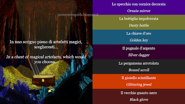 In uno scrigno pieno di artefatti magici, sceglieresti...