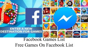 Facebook Games List – Free Games On Facebook List | Access Facebook Games List