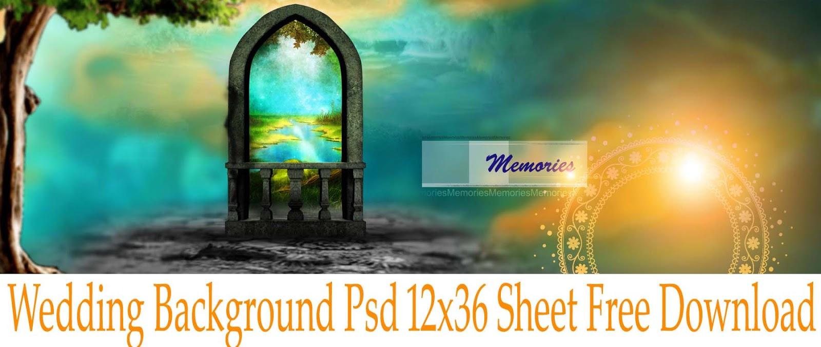 Wedding Background Psd 12x36 Sheet Free Download Luckystudio4u