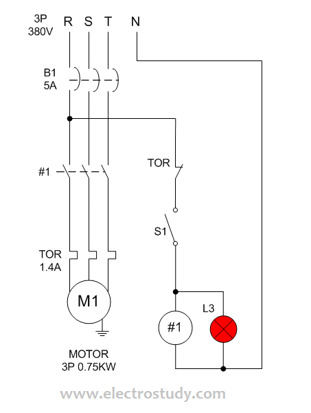 Wiring diagram single motor with selector switch