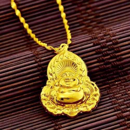 37k - Mặt dây chuyền vàng Phật Di Lặc giá sỉ và lẻ rẻ nhất