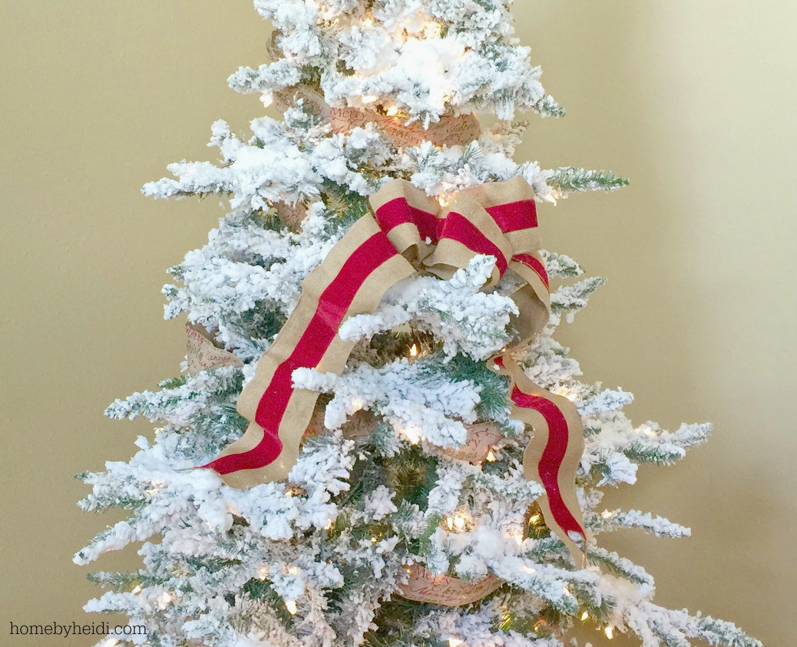 Home By Heidi: Christmas Tree Ribbon