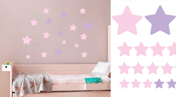 Decorando las paredes con vinilos infantiles blog f de for Vinilos infantiles estrellas
