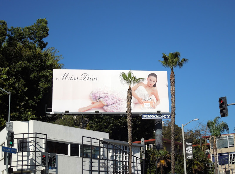 Miss Dior perfume billboard