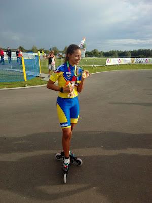Fabriana Arias festeja su segundo oro en el patinaje de los Juegos Mundiales 2017