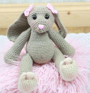 amigurumi crochet easter bunny girl doll