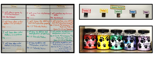 Color organization in practice in a 6th grade middle school classroom.
