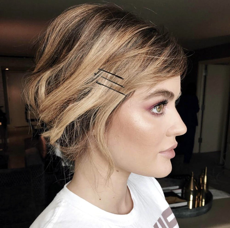 French braid with Exposed Bobby Pins
