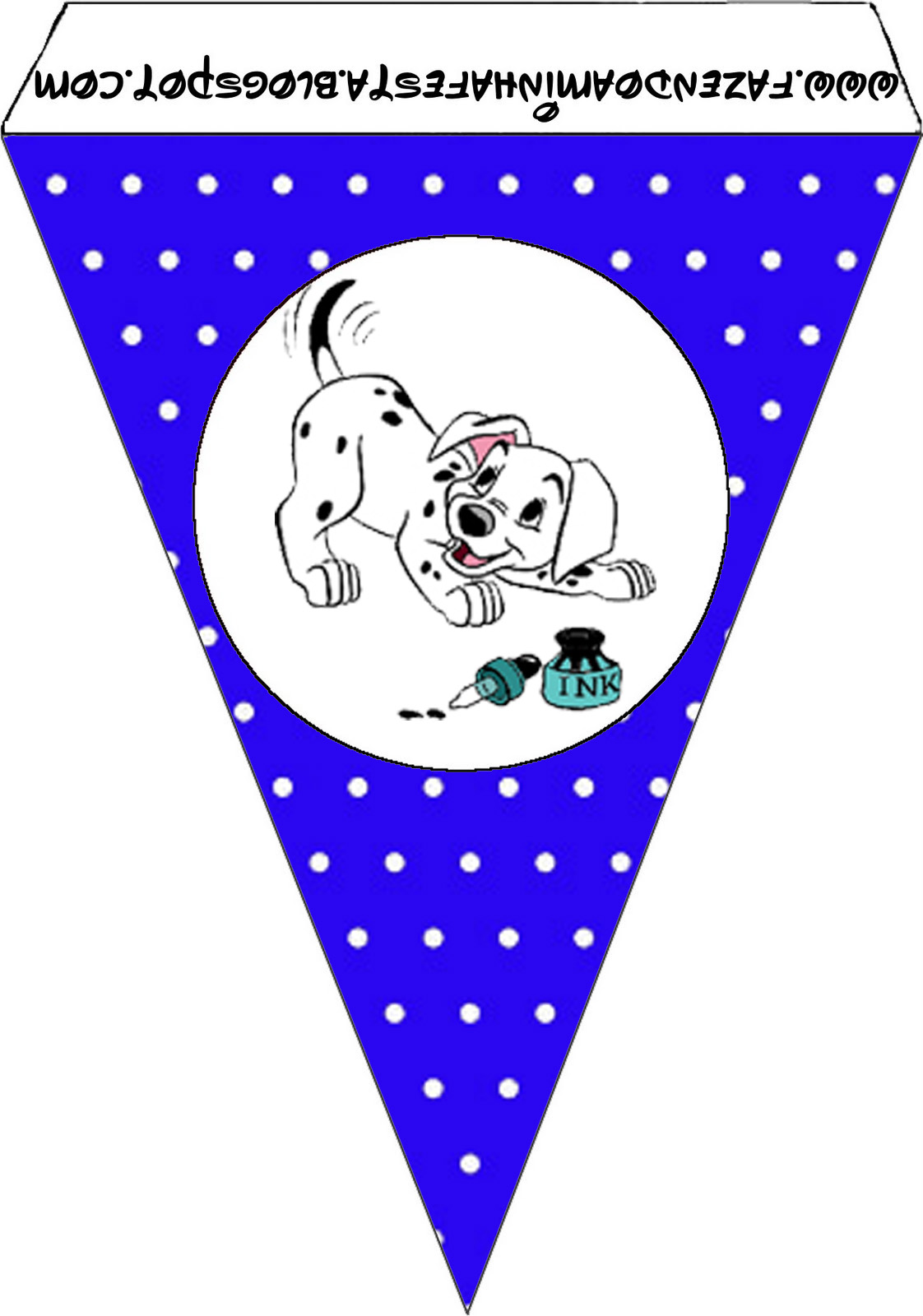 101 Dalmatians In Black And Blue Free Party Printables Oh My Fiesta In English