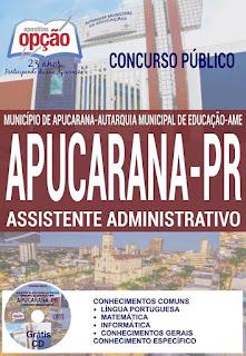 Apostila concurso AME-PR 2016- Autarquia Municipal de Educação de Apucarana.