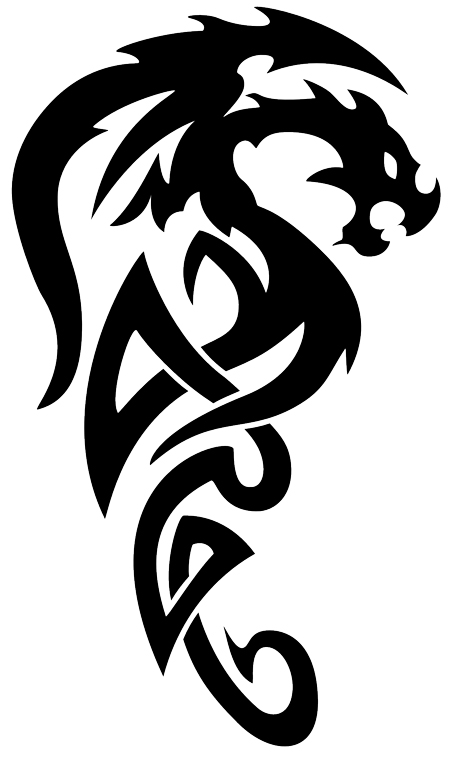 tattoo in gallery: tribal dragon tattoos
