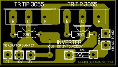 Cara membuat Inverter Dari DC 12V ke 220Volt sederhana