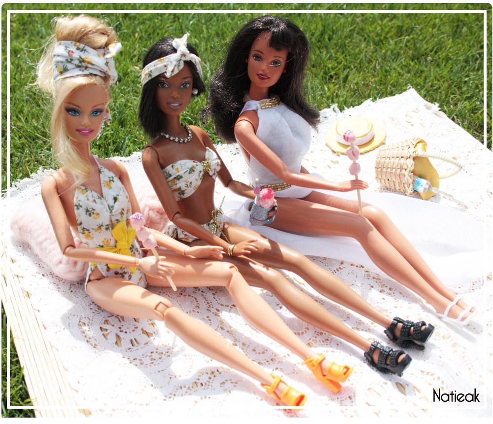 Barbie à la plage