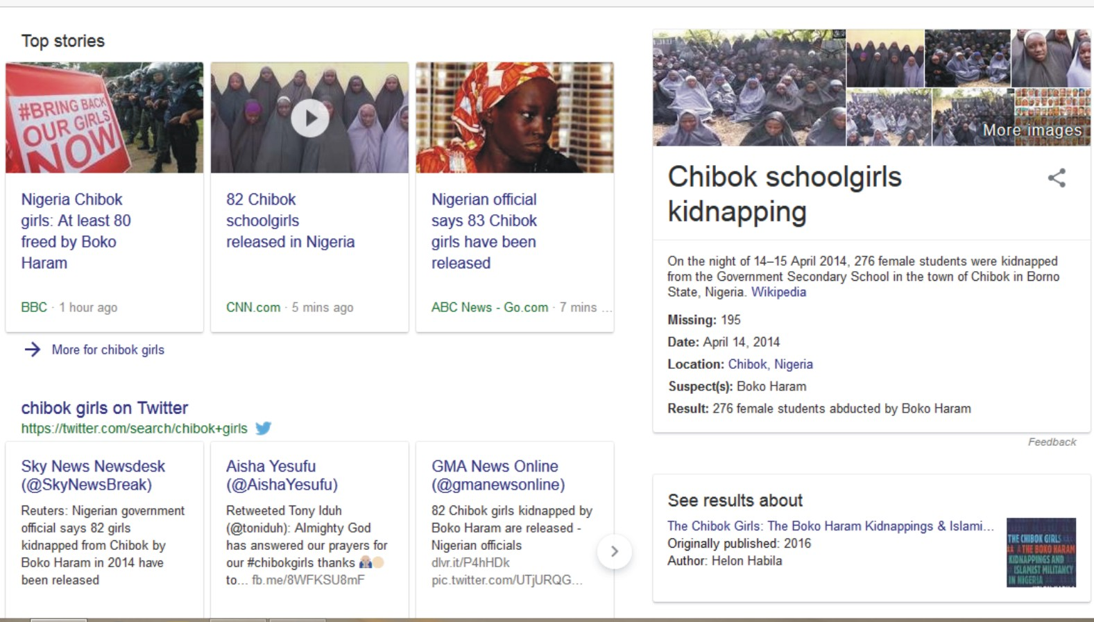 Is The Release Of 80 Chibok Schoolgirls Stage? - See The Discripancies
