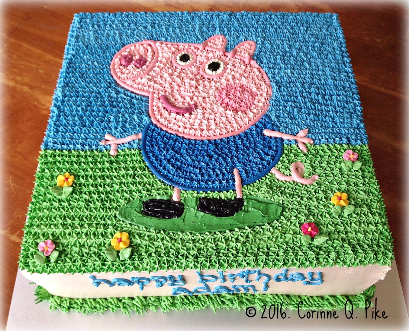 George Pig Birthday Cake Mould