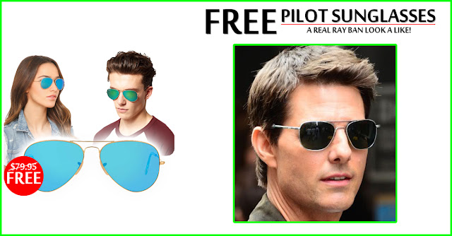 Free Pilot SunGlasses...Limited offer