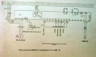 Contoh    Wiring       Diagram    Inverter Motor 15KW   Elektronika