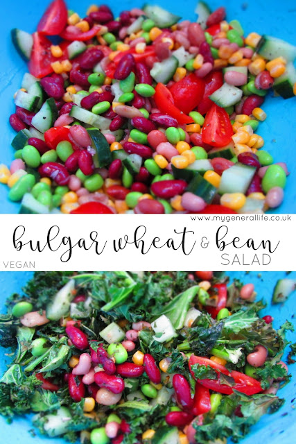 Here's a recipe for a simple, vegan bulgar wheat & bean salad that is perfect for a quick midweek dinner. Click to link to find out more!