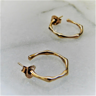 Dinny Hall - Rose Gold Vermeil Bamboo Earrings - £240.00