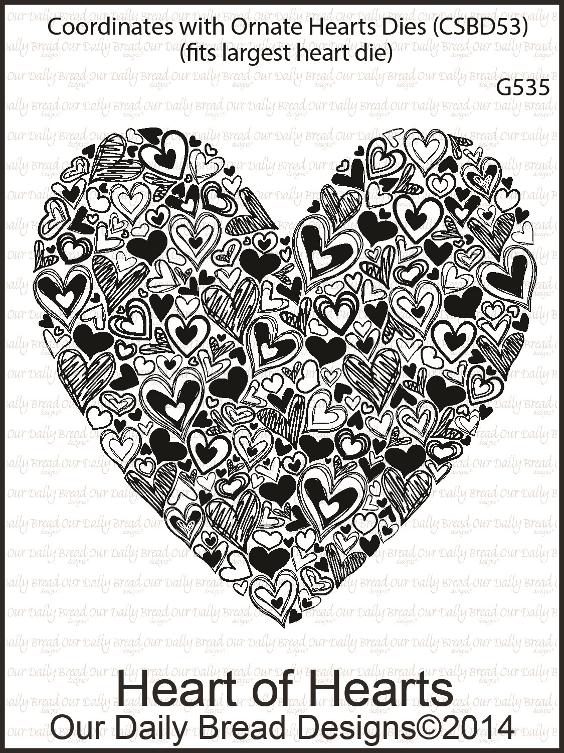 Stamps - Our Daily Bread Designs Heart of Hearts