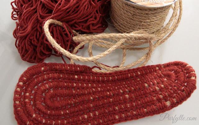 crochet over sisal rope