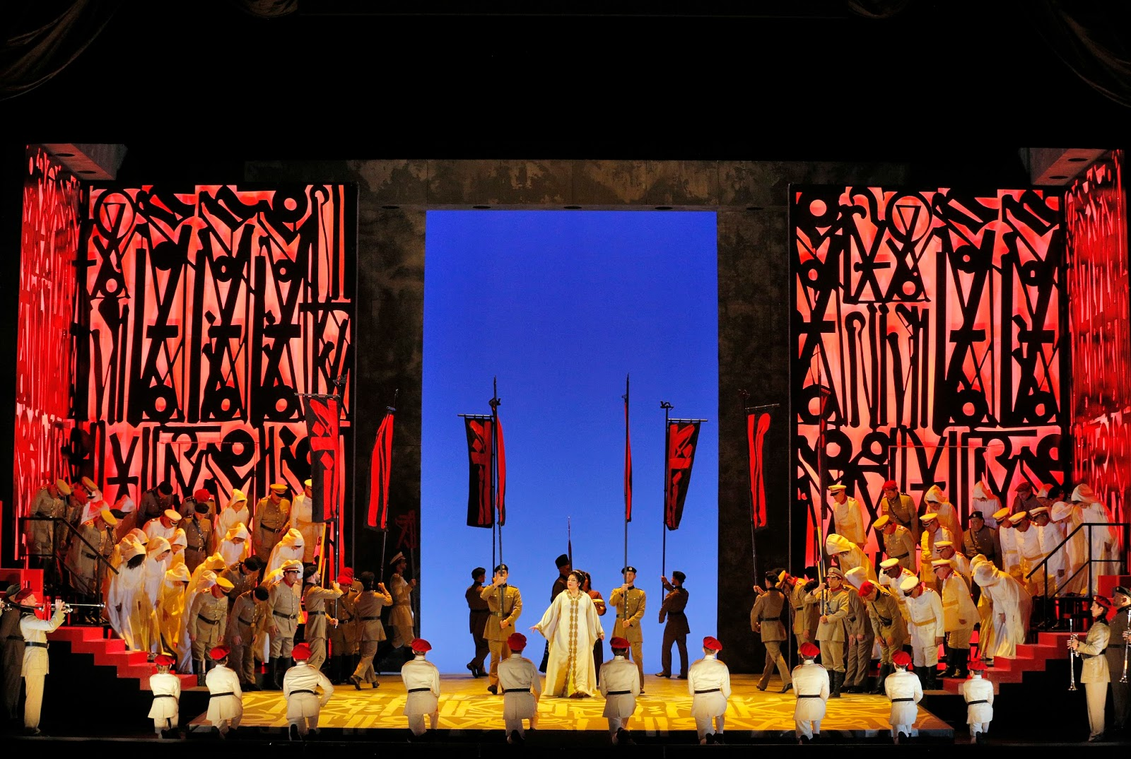 IN PERFORMANCE: Francesca Zambello's production of Giuseppe Verdi's AIDA, seen at Washington National Opera on 10 September 2017 [Photo from San Francisco Opera's 2016 staging of the Zambello production; photo by Cory Weaver, © by San Francisco Opera]