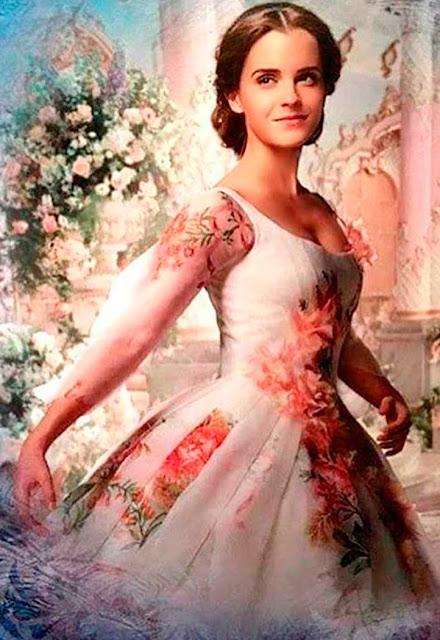 A bela e a fera vestido flores casamento
