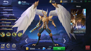 Hero Tank Baru Kaja The Nazar King Di Mobile Legends