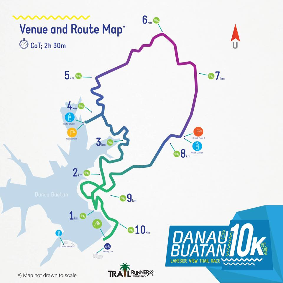 rute Danau Buatan 10K • 2017