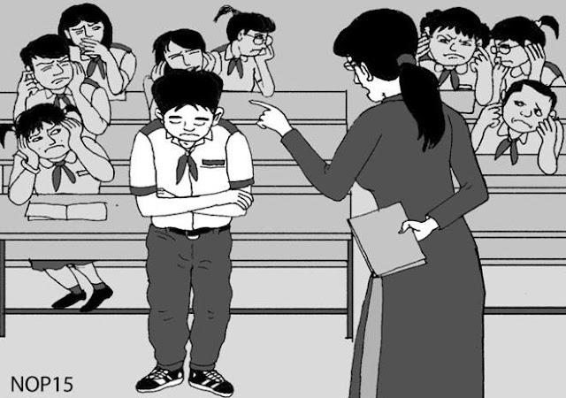 Cô giáo mắng học sinh sẽ bị phạt tiền?