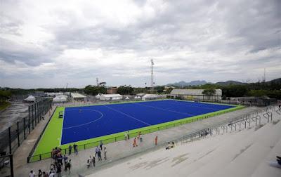 Rio Olympics 2016's Blue Hockey Pitch