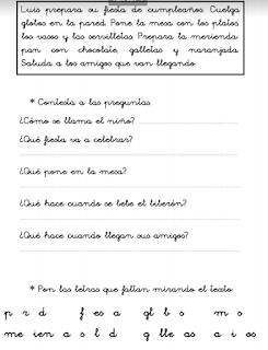 FICHAS DE EFICACIA LECTORA. CUADERNILLO 1